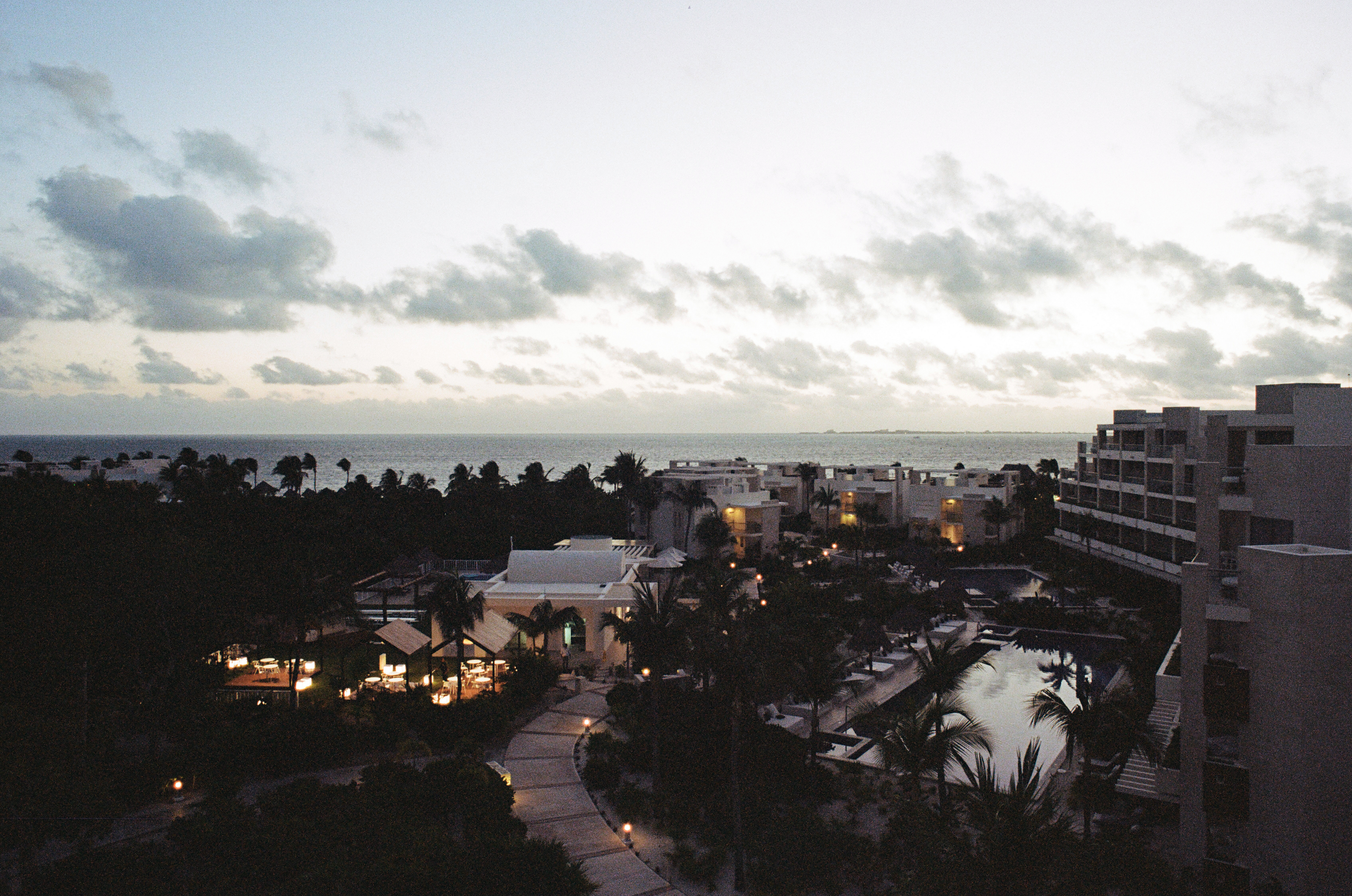 The view from our balcony at the Beloved Playa Mujeres resort in Cancun, Mexico.